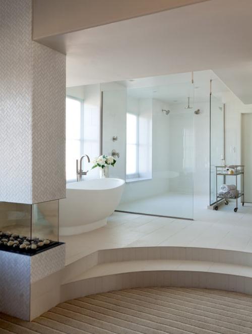 salle de bains avec suites deux niveaux