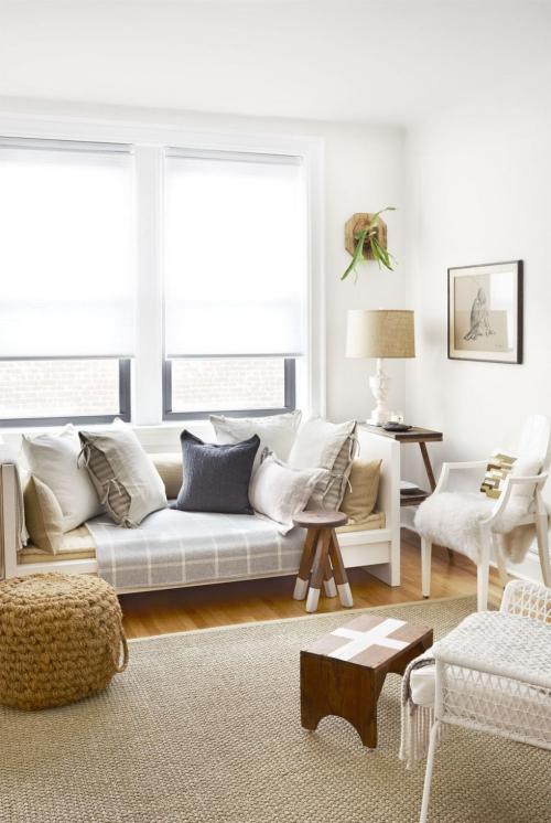 salon confortable beauté en blanc et beige
