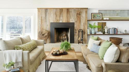 salon confortable matériaux naturels