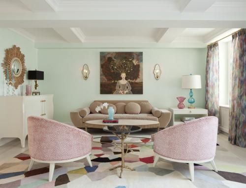 salon couleurs pastel joli coin détente