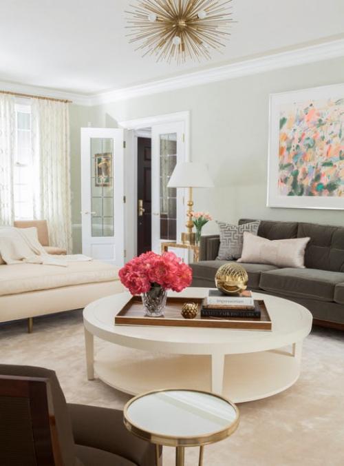 salon couleurs pastel salon classique