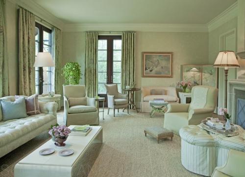 salon couleurs pastel sensation du vert