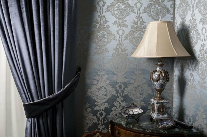 salon déco classique rideau isolant
