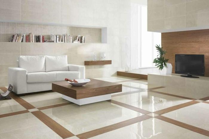 salon marbre et bois sol marbre
