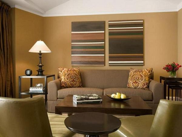 salon moderne brun miel épicé couleur de peinture tendance 2019 dulux
