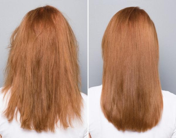 soin réparateur cheveux avant après après-shampoing