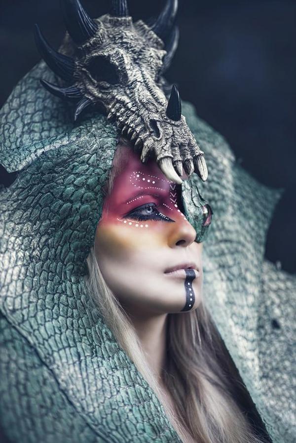 sorcière idée de maquillage pour halloween