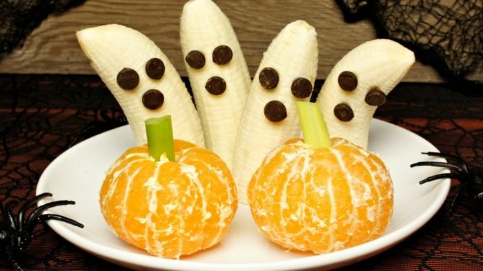 table déco aux druits idée recette halloween