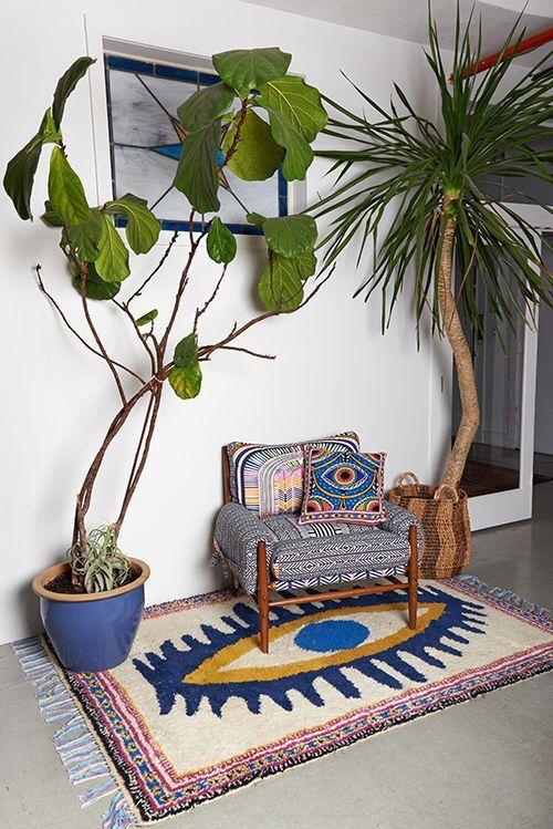 tapis marocain fauteuil rembourré