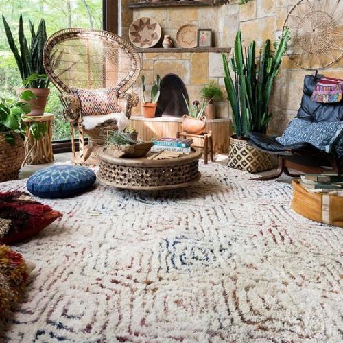 tapis marocain motifs africains