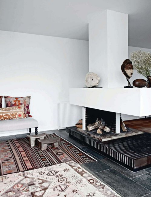 tapis marocain murs blancs