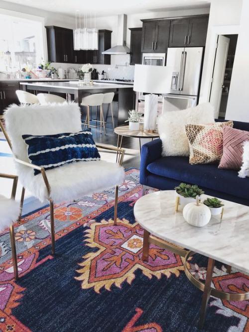 tapis marocain salon moderne