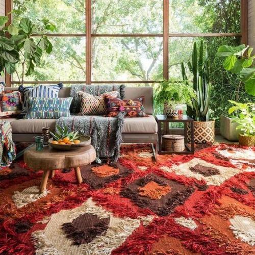 tapis marocain style shaggy