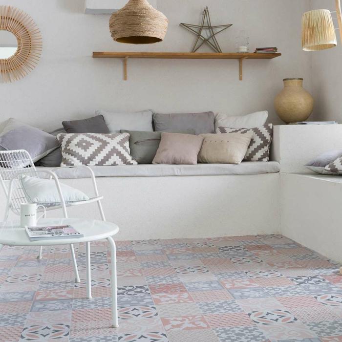 vinyle carreaux de ciment tapis moderne