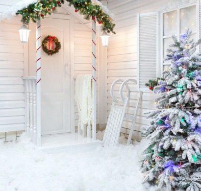 Décoration De Noël Fenêtre Pour Attirer Les Regards Des Passants