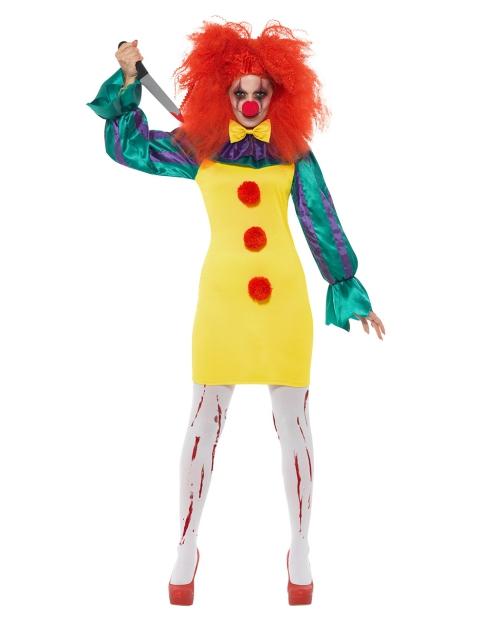 Le déguisement Halloween clown horreur cheveux rouges