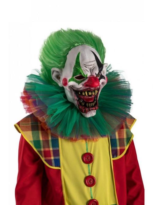 Le déguisement Halloween clown horreur cheveux verts