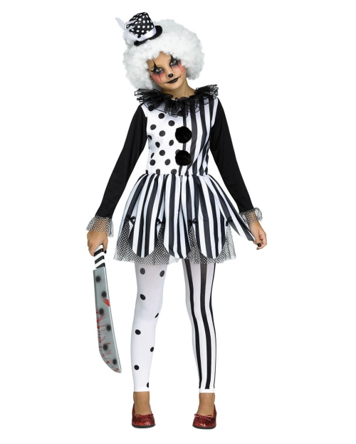 Le déguisement Halloween clown horreur costume pour petite fille