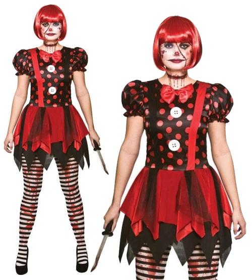 Le déguisement Halloween clown horreur une dame clown