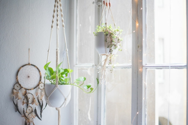 accrocher une suspension macramé diy