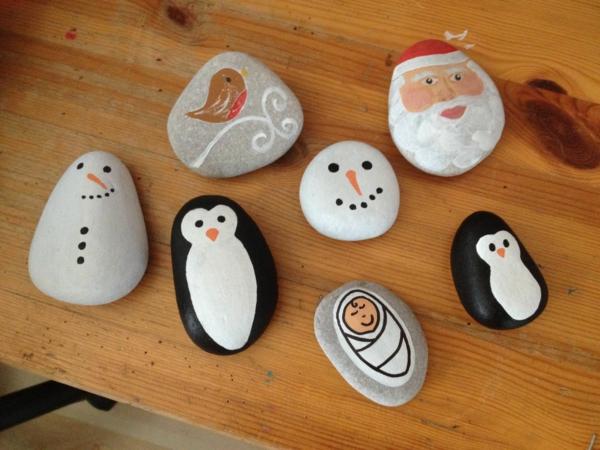 activité maternelle idée diy peinture sur galets noël