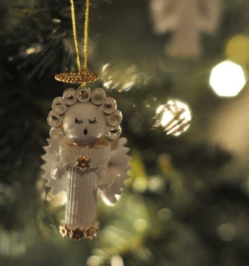 ange arbre noël idée bricolage noël pâtes alimentaires