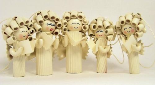 anges perles en plastique idée bricolage noël pâtes alimentaires
