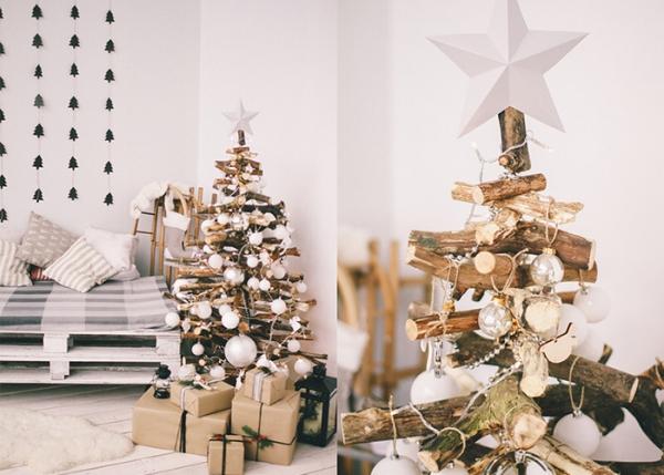 apin de Noël en bois flotté une maison écolo