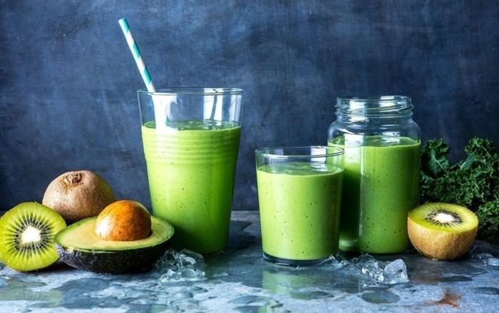 avocat et kiwis idée recette smoothie