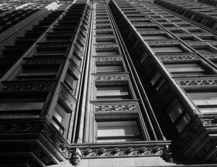 bâtiment photographie noir et blanc
