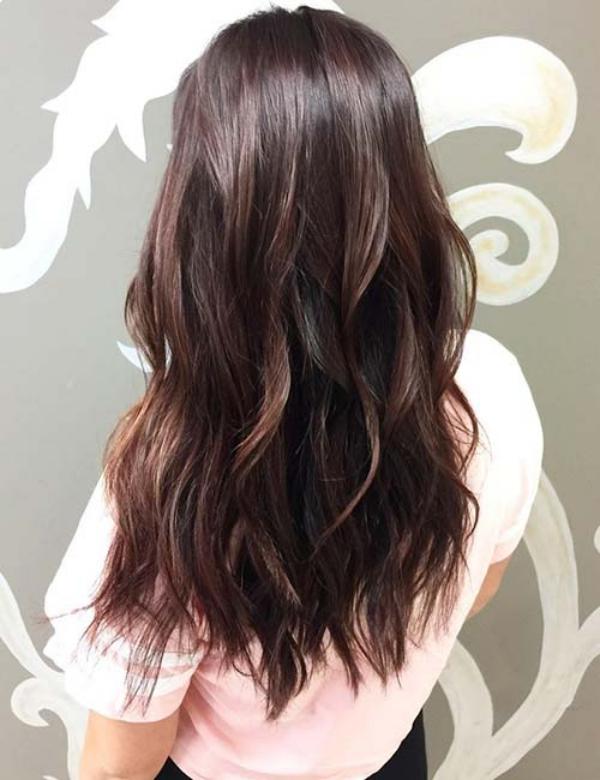 balayage pour brune jolie coiffure