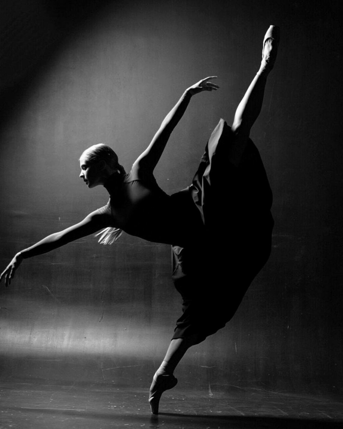 ballerine photographie noir et blanc