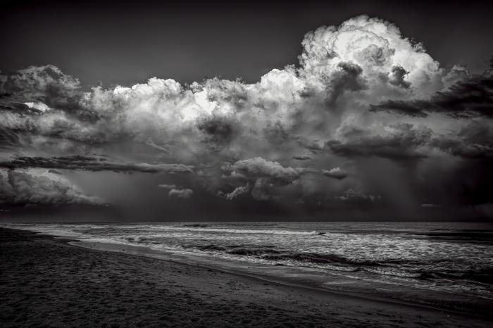 bord de mer photographie noir et blanc