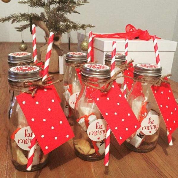 cadeau Noël à faire soi-même biscuits dans des bocaux
