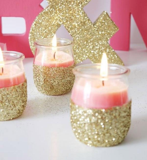cadeau Noël à faire soi-même chandeliers brillants