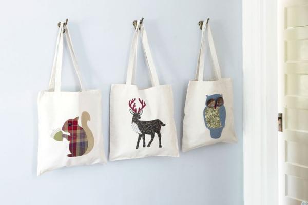 cadeau Noël à faire soi-même sacs pour provisions