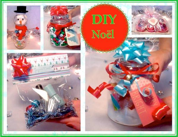 cadeau Noël à faire soi-même sucreries dans des bocaux
