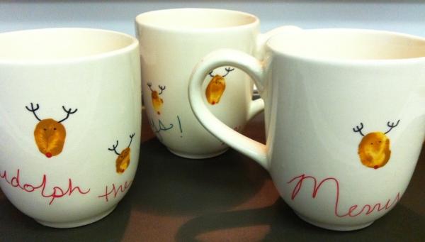 cadeau Noël à faire soi-même tasses dessinées