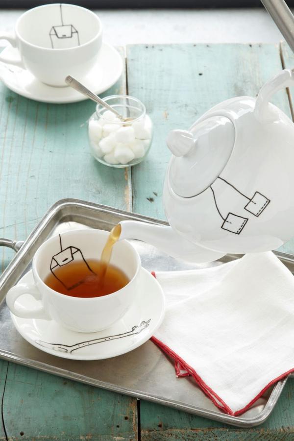 cadeau Noël à faire soi-même un service à thé