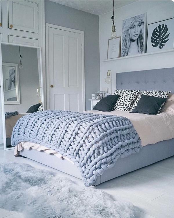cadeau de noël maman à faire soi-même couverture de lit tricotée