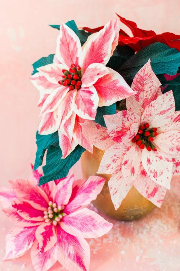 cadeau de noël maman à faire soi-même fleurs en papier