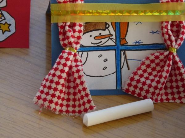 carte de Noël personnalisée papier et tissu