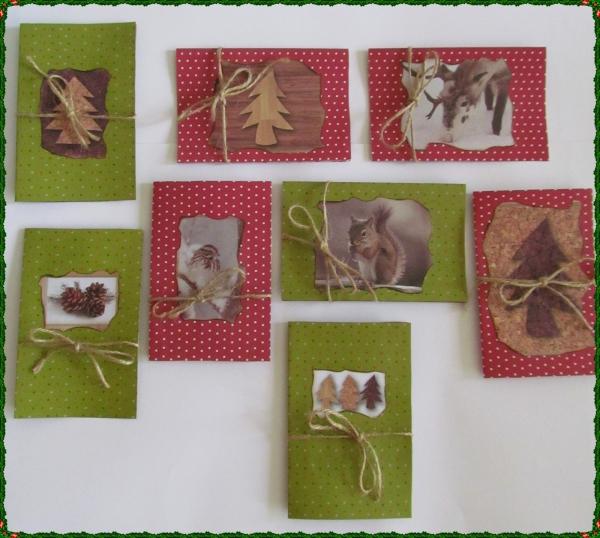 carte de Noël personnalisée propositions de collage