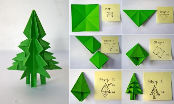 carte de Noël personnalisée technique de plier le papier