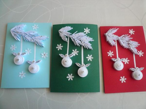 carte de Noël personnalisée trois jolies cartes