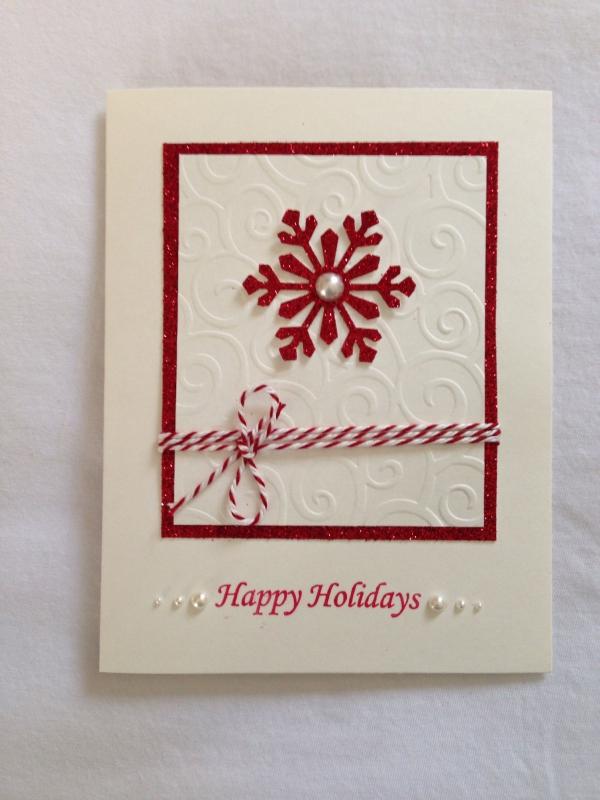carte de Noël personnalisée un flocon de neige