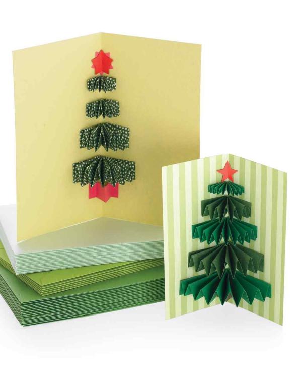 carte de Noël personnalisée une carte qui s'ouvre