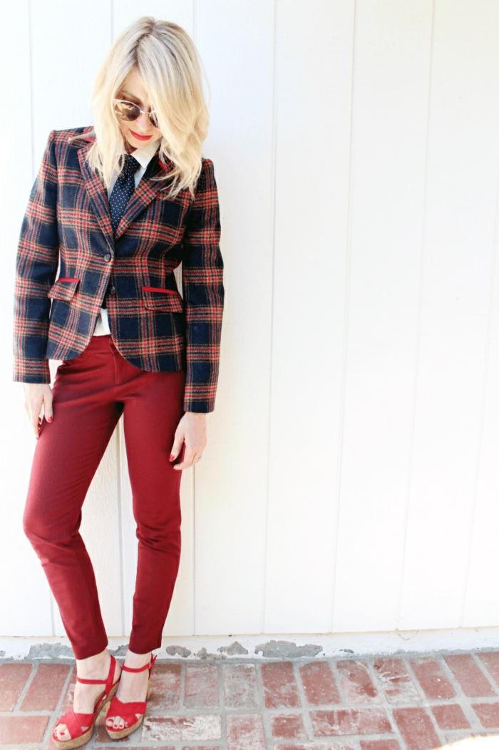 veste carreaux femme   incontournable pour l u0026 39 automne