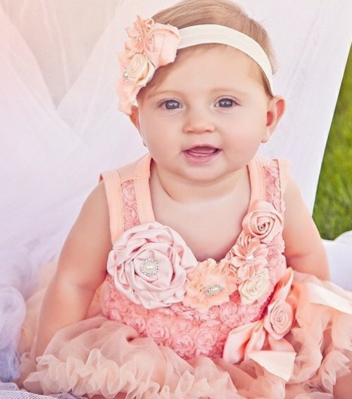 coiffure bébé fille bandeau fleur