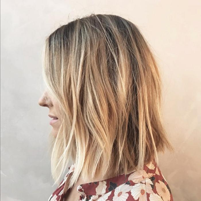 Model coiffure carre degrade
